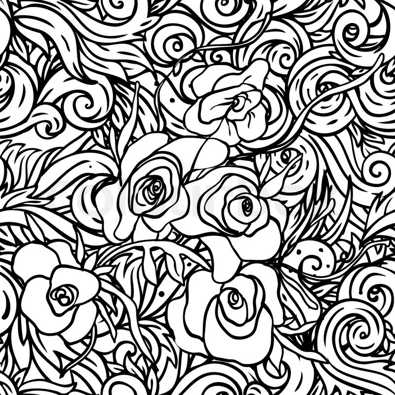Seamless pattern with black and white flowers stock vector colourbox stock vector of seamless pattern with black and white flowers mightylinksfo