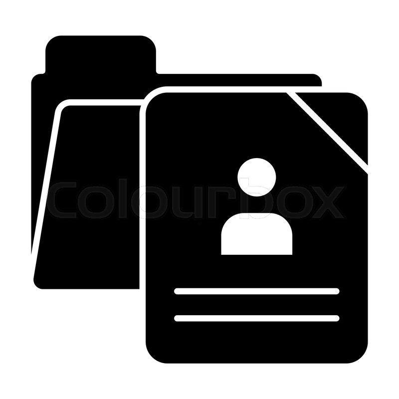 School Questionnaire Form Solid Icon Stock Vector Colourbox