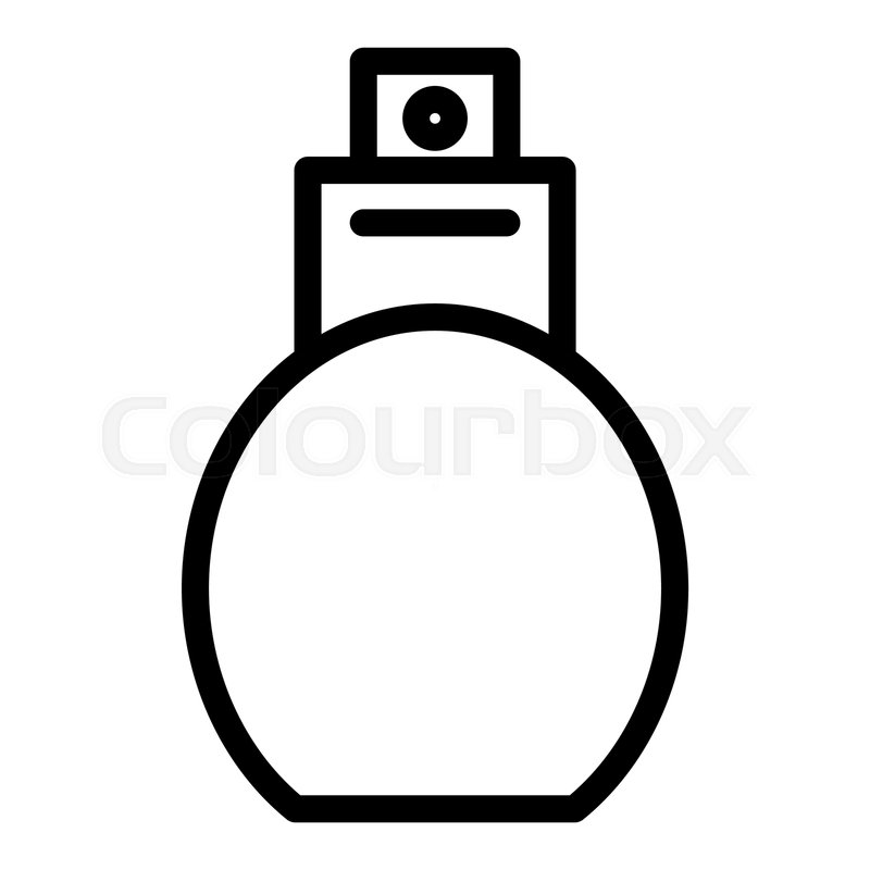 Perfume line icon  Aroma bottle     | Stock vector | Colourbox