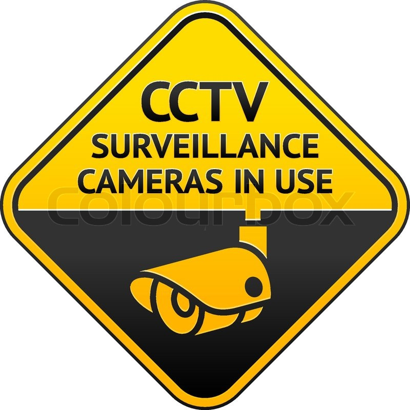 Cctv Pictogram Video Surveillance Stock Vector