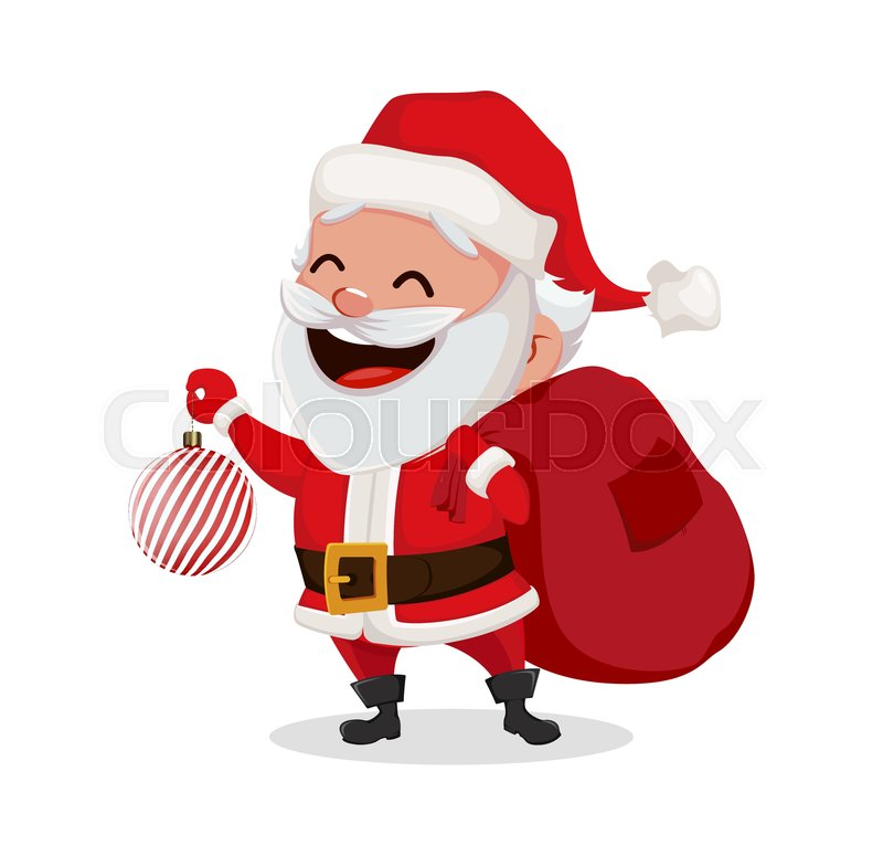 Merry Christmas Funny Images.Merry Christmas Funny Santa Claus Stock Vector