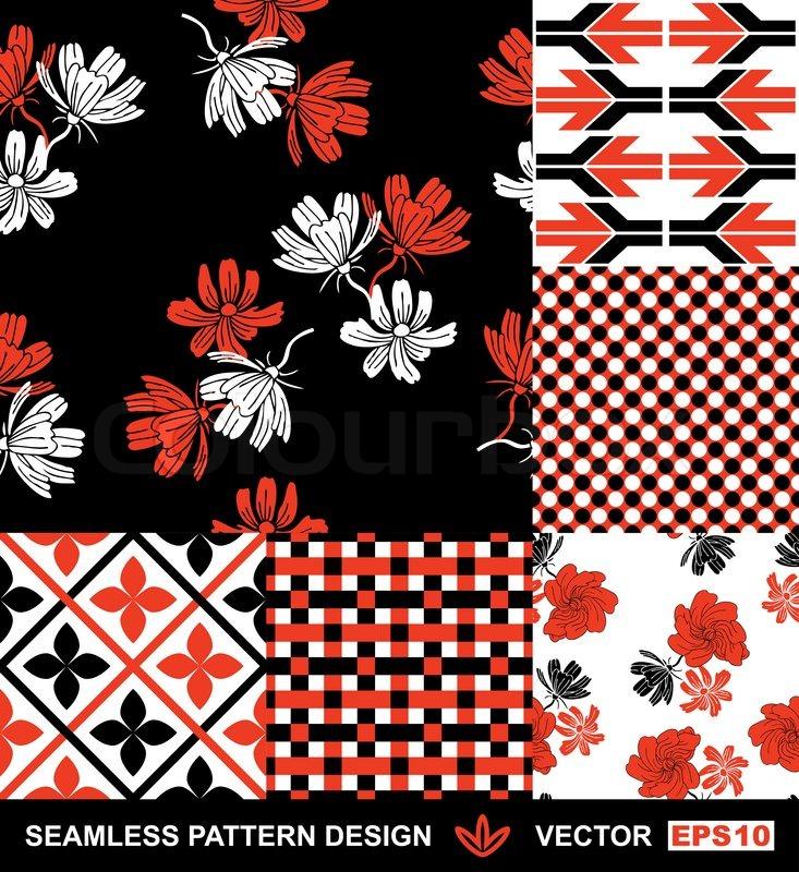 Vector wallpapers fashion seamless patterns creative fabrics