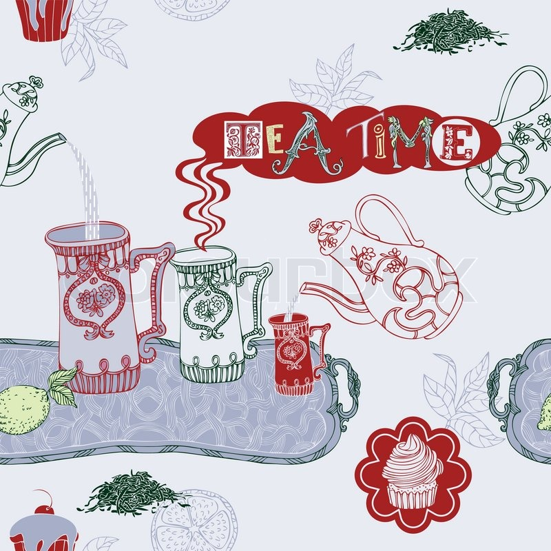 abstract background  tea time vector wallpaper  color