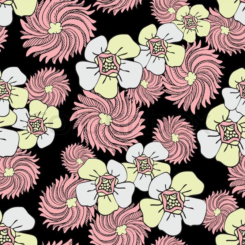 Vintage Wallpaper on Fashion Background Design