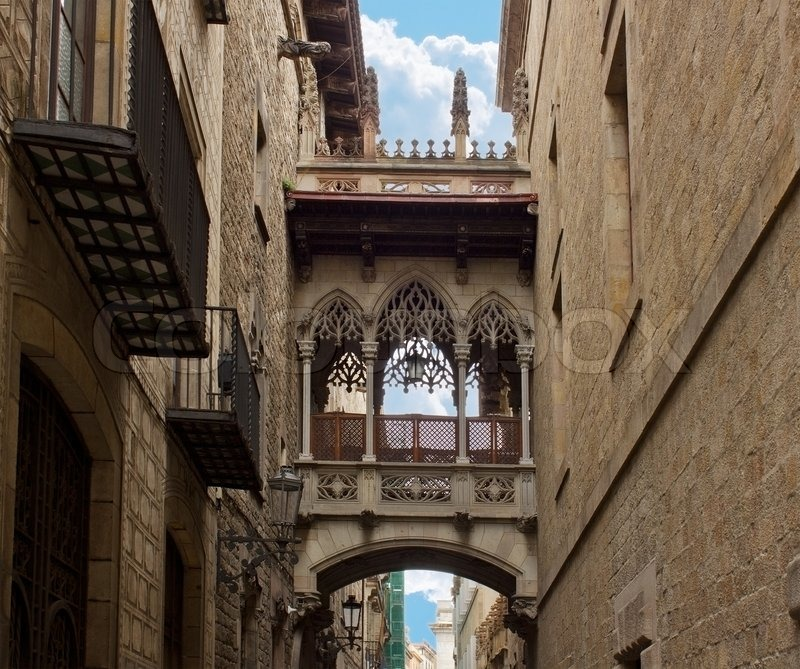 Gothic Quarter Barcelona Spain Stock Photo Colourbox
