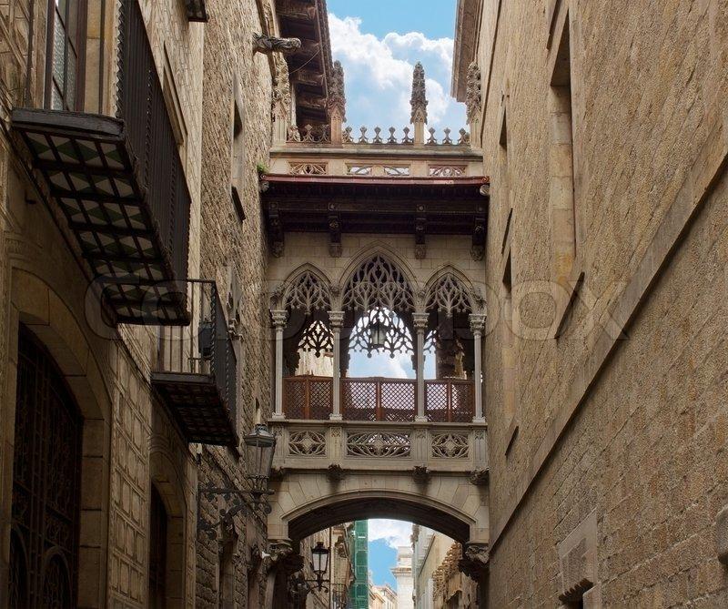 Gothic Quarter Barcelona Spain Stock Photo Colourbox