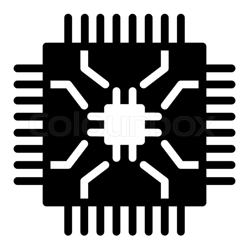 microchip solid icon cpu vector stock vector colourbox microchip solid icon cpu vector