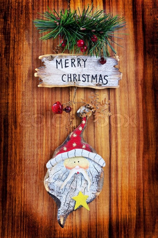 old christmas ornaments on a wooden board stock photo colourbox - Old Christmas Decorations