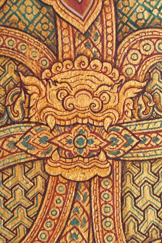 Thai Patterns Stock Photo Colourbox