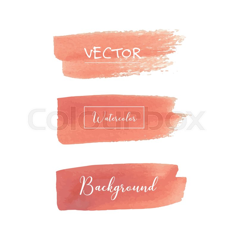 peach watercolor background pastel stock vector colourbox peach watercolor background pastel