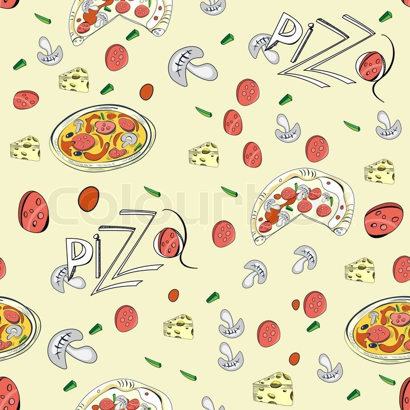 repeating pizza background - photo #17