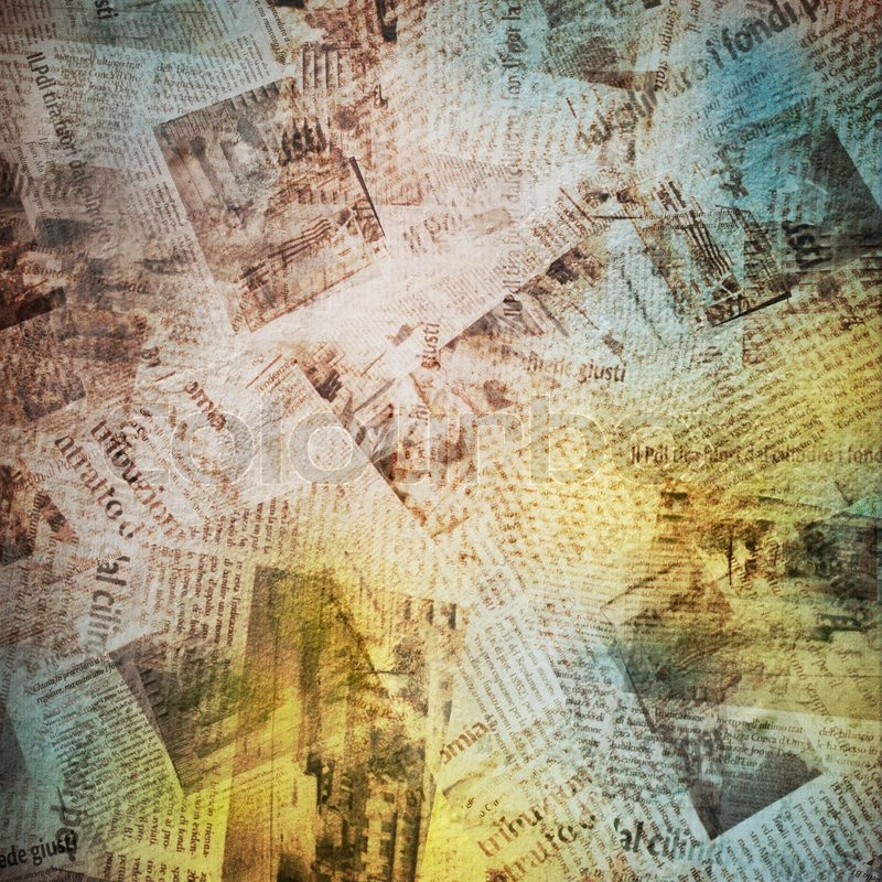 Old Background With Newspaper Stock Photo Colourbox