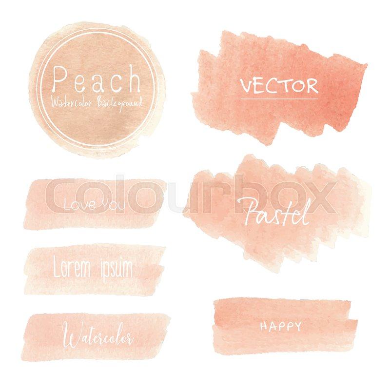 Peach Watercolor Background Pastel Stock Vector Colourbox