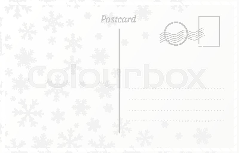 retro postcard template for new year and christmas greetings postal