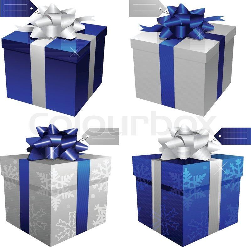 Weihnachten, Geburtstag, Geschenk-Boxen | Vektorgrafik | Colourbox