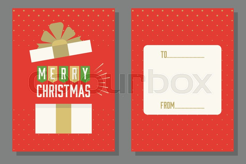 Christmas Theme Poster And Invitation Stock Vector