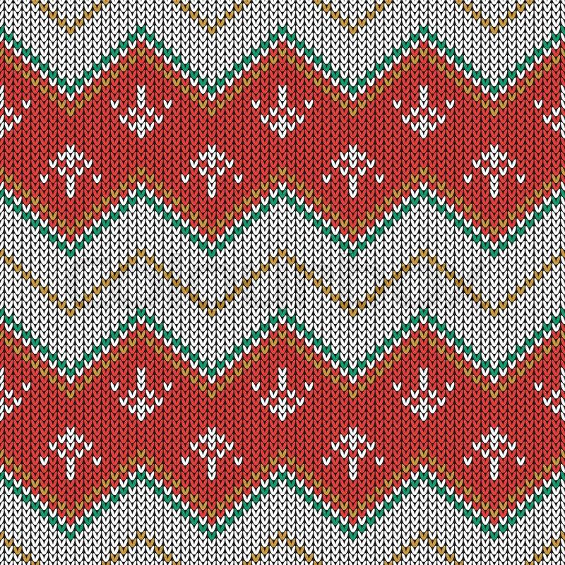 81fb2ec4a5f7 Christmas knitted pattern. Geometric ...