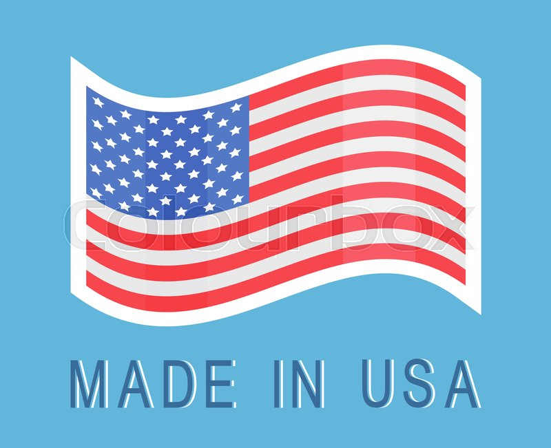 a7ab5629aba Made in USA sticker with American ...