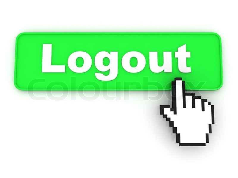 Logout Button | Stock Photo | Colourbox