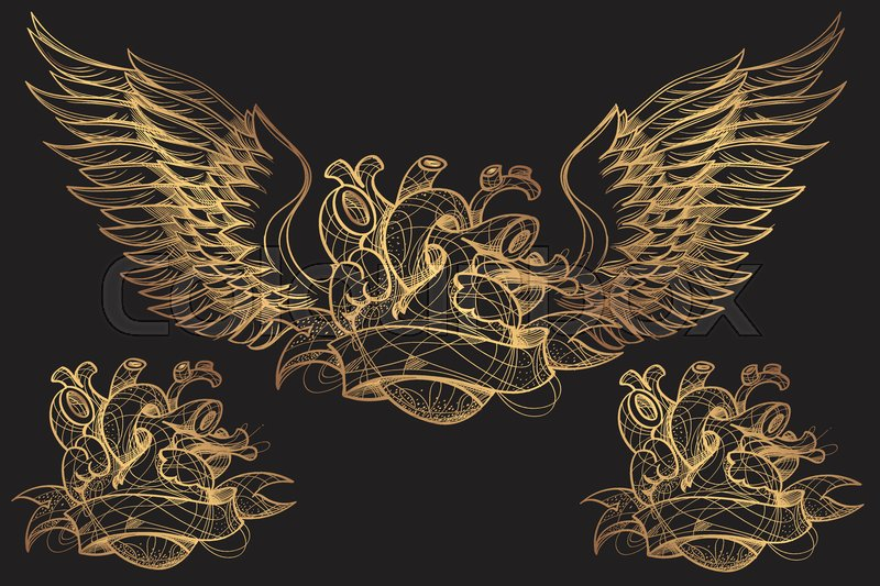 dc4458bf335d7 Hand drawn boho tattoo. Blackwork ... | Stock vector | Colourbox