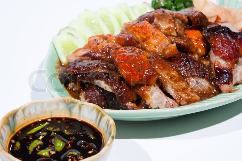Stock image of 'Roast Duck Thai food'