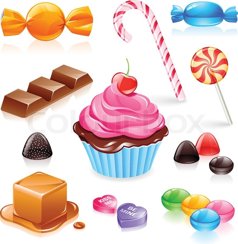 Stock vector of 'Mixed candy vector'