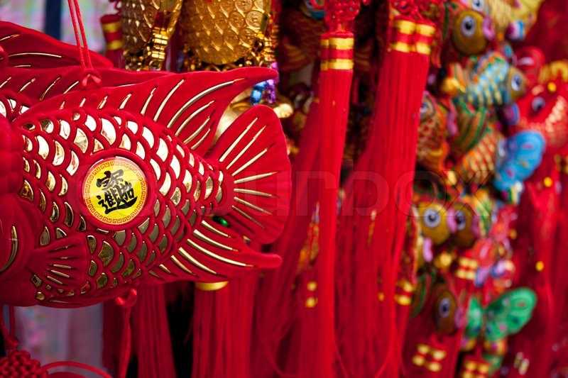 Glückssymbole Chinese New Year | Stockfoto | Colourbox