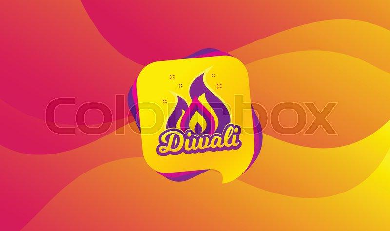 Diwali festival greeting card  Hindu     | Stock vector