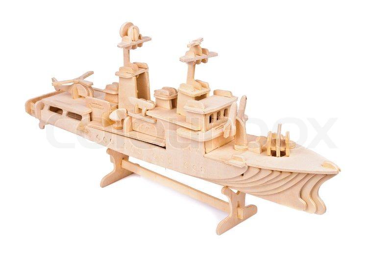 Toy wooden ship | Stock Photo | Colourbox