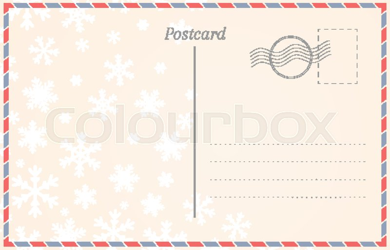 Winter invitation postcard template vector | free download.