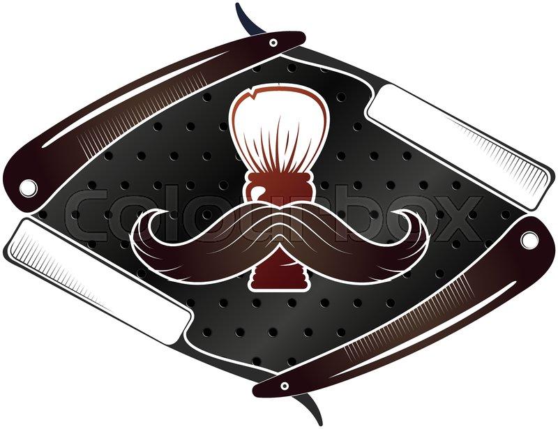 Hair Mustache Scissors Wax Stock Vector Colourbox