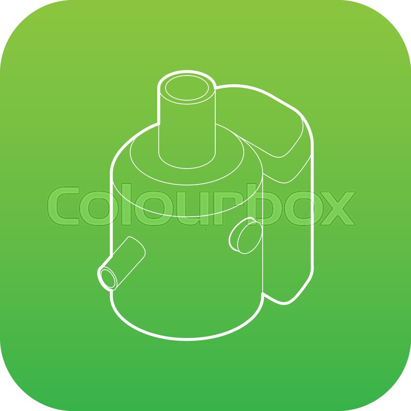 8272233dd22674 Icon green vector isolated on white ... | Stock vector | Colourbox