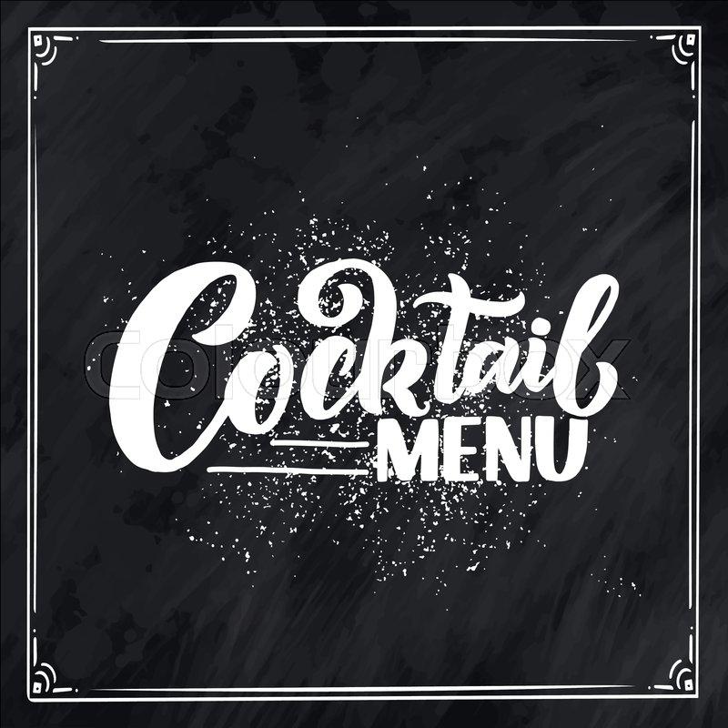 Lettering phrase - cocktail menu      | Stock vector | Colourbox