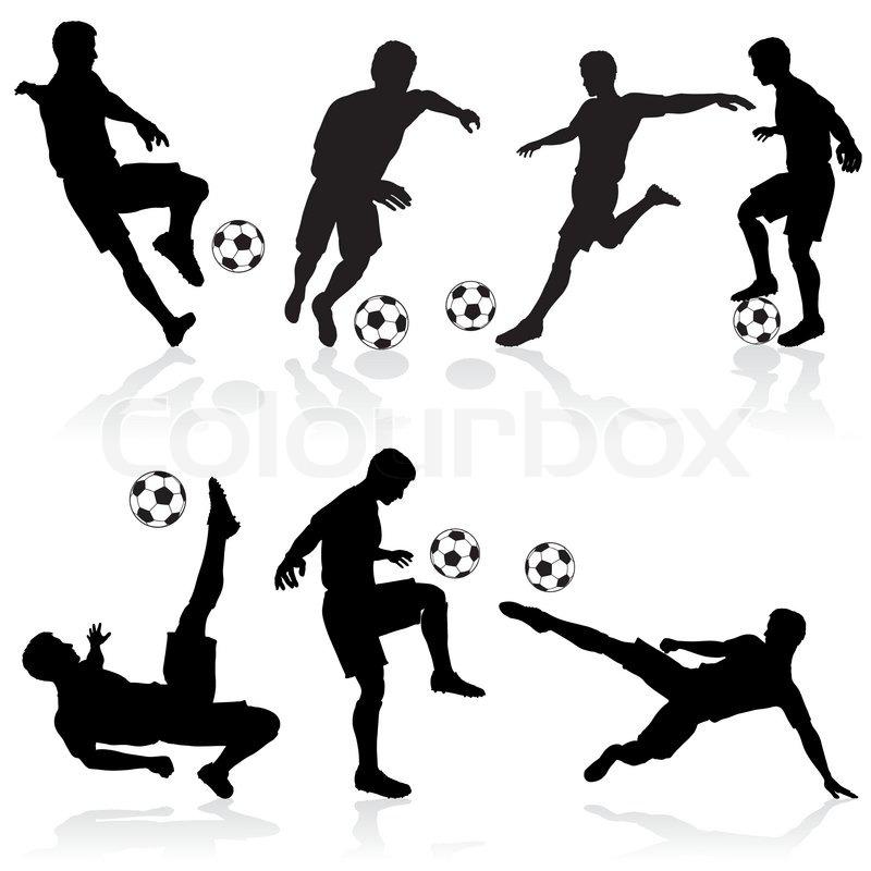 Silhouetten Von Fußball-Spieler