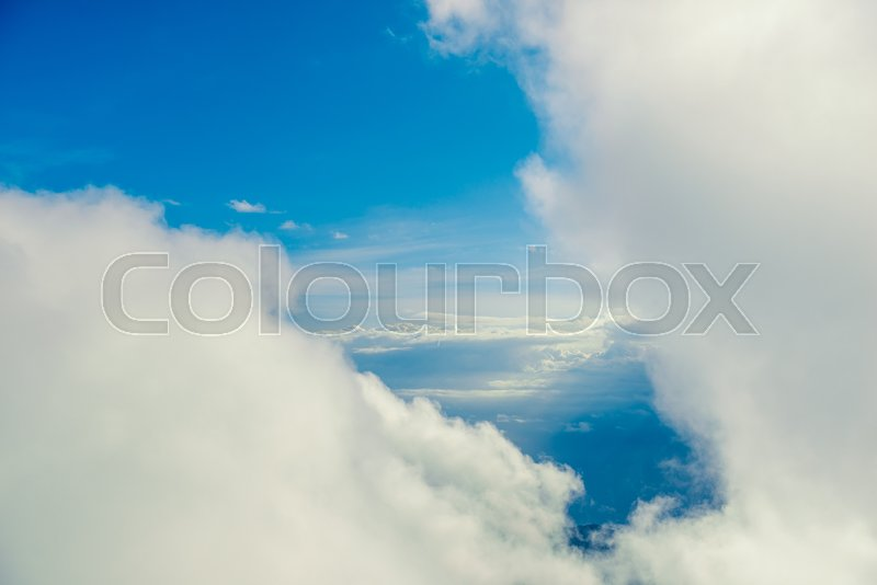 Stock image of 'Beautiful clouds at high altitude and blue sky'