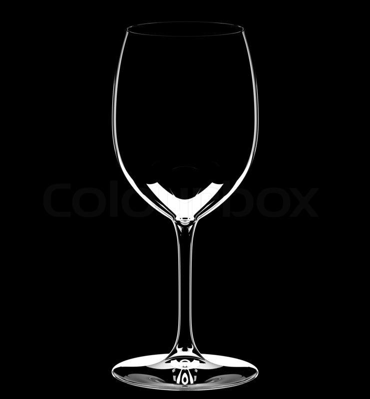 66cd15205638 Single empty wine glass on black ...