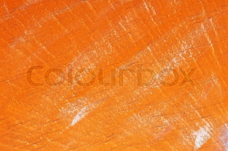Orange Cement Wall : Concrete wall painted with orange stock photo colourbox
