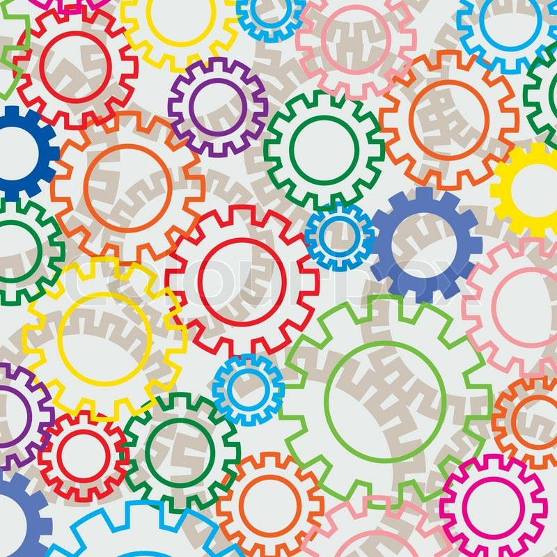 Vector background of colorful gears | Stock Vector | Colourbox