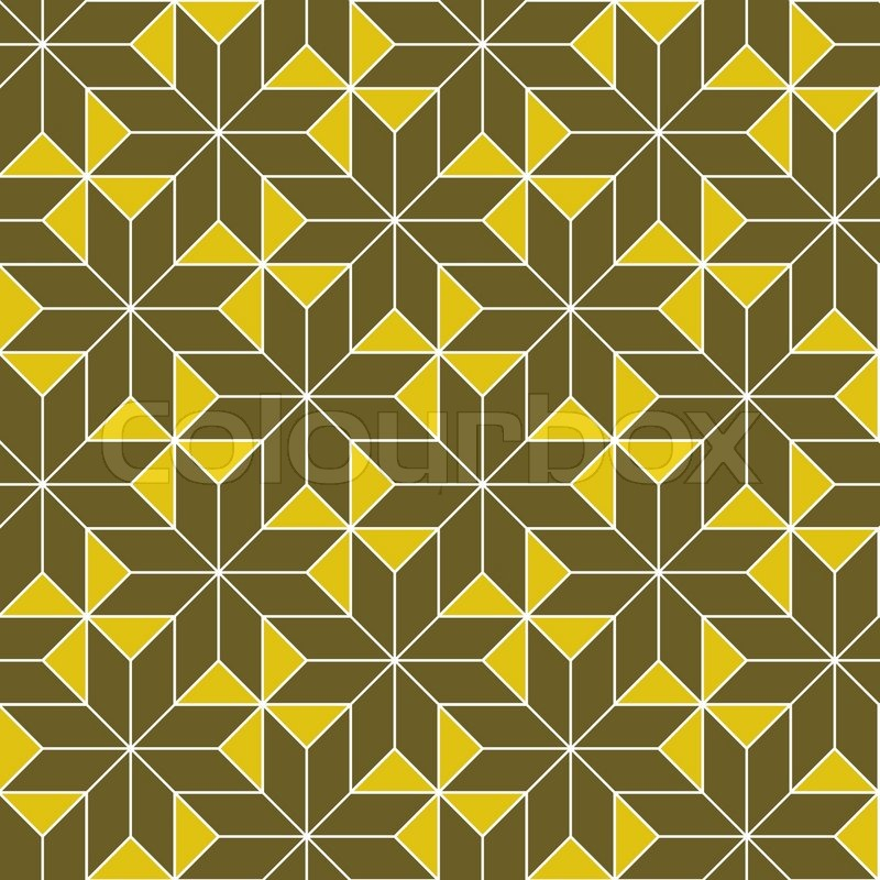 Abstract Geometric Shapes Seamless Pattern Stock Image - Image