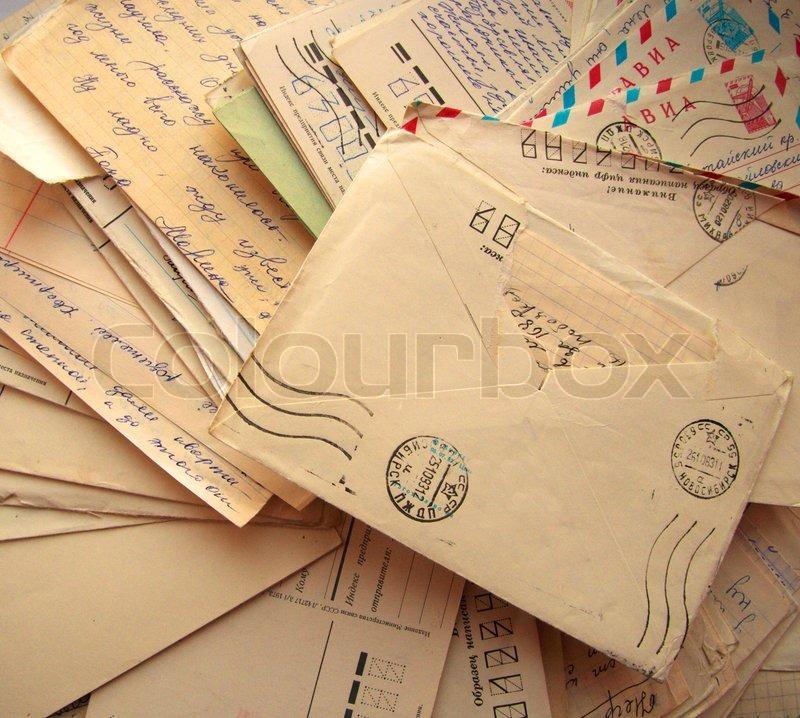 Bunke af gamle breve | Stock foto | Colourbox