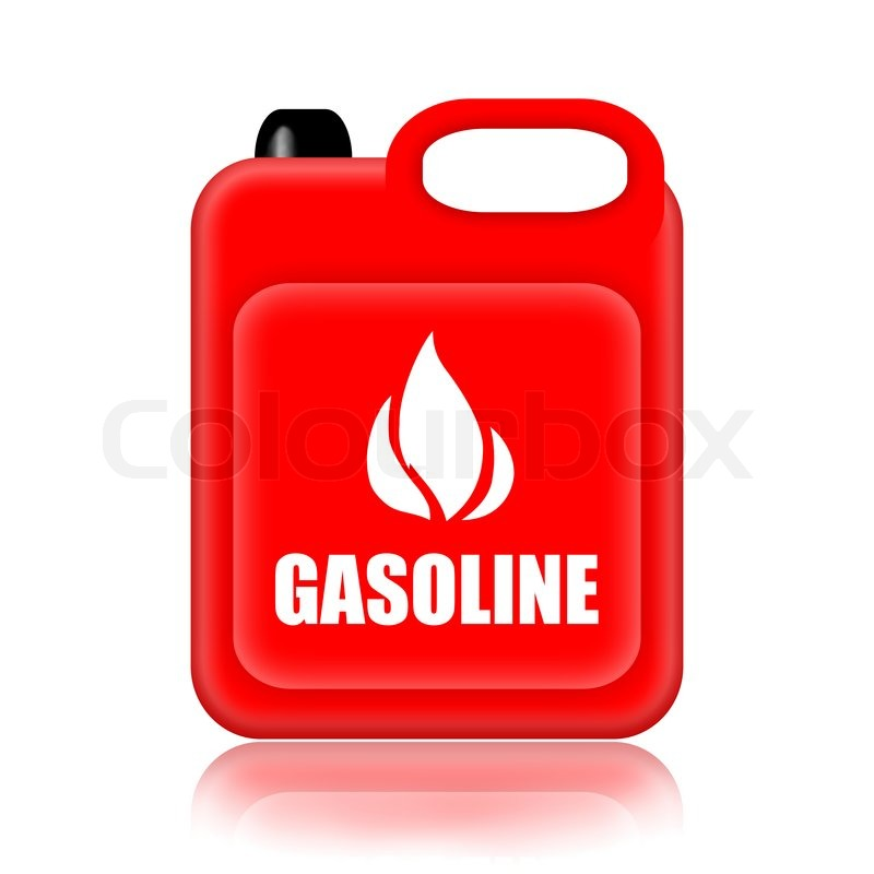 gasoline canister isolated over white background stock photo