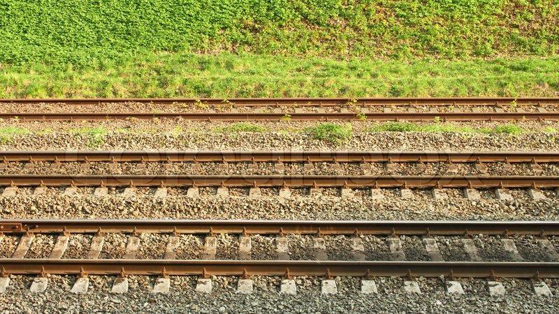 lines Railroad tracks parallel