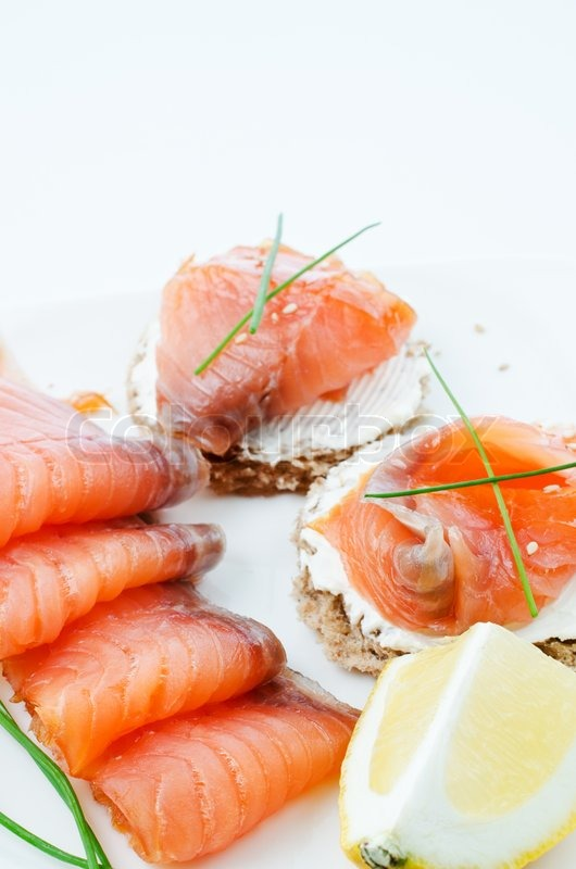 Smoked salmon canapes stock photo colourbox for Canape suppliers