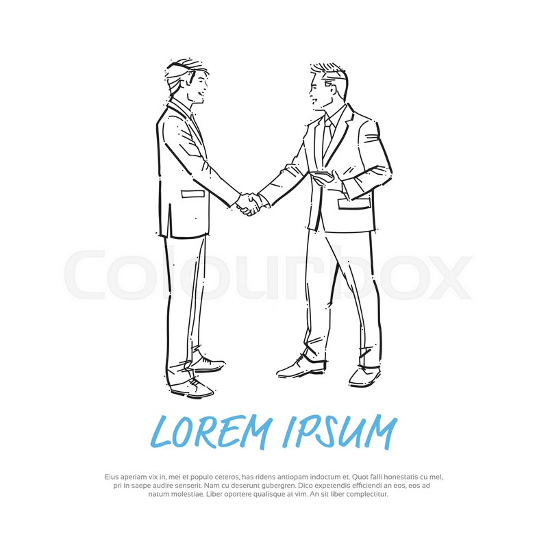 Business People Shaking Hands During Stock Vector Colourbox