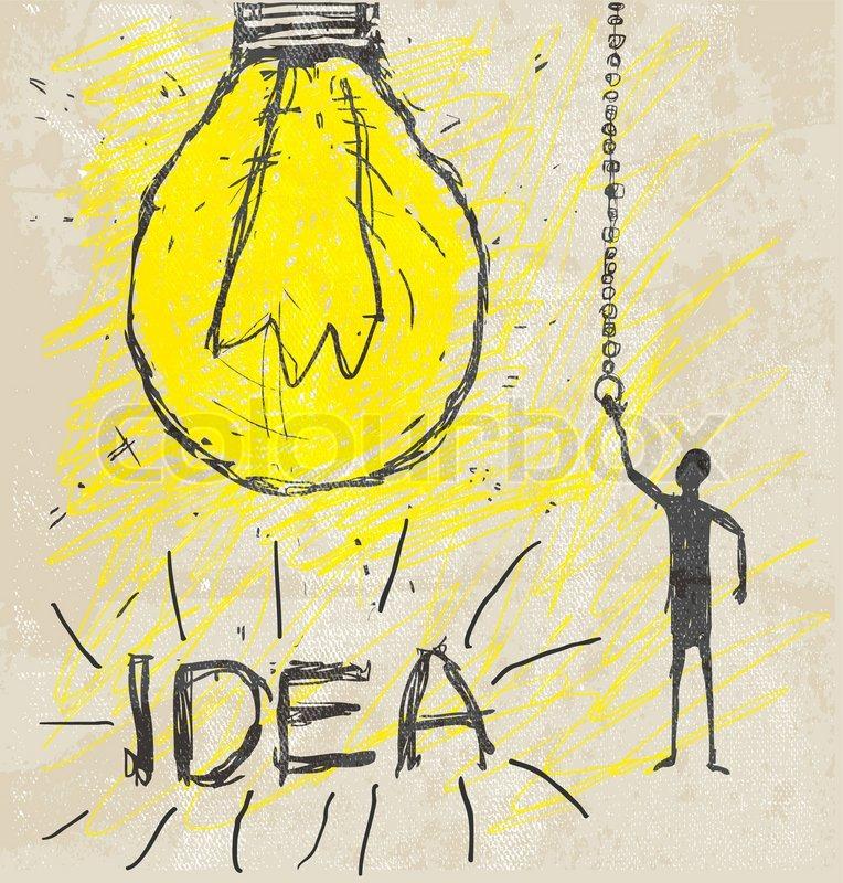 Bulb Drawing Stock Photo Colourbox