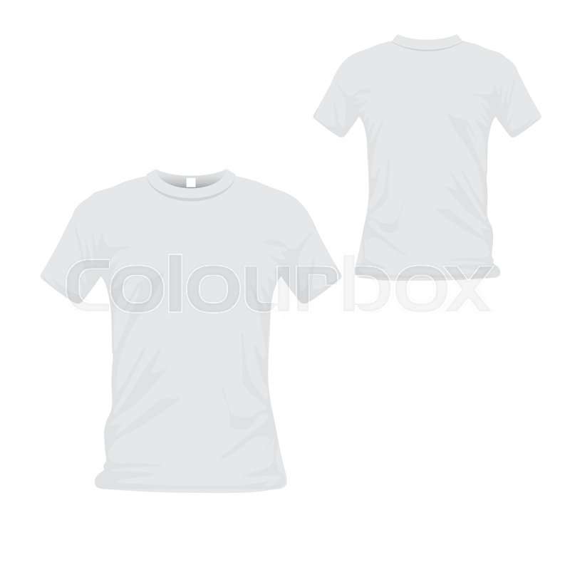 2f6f3e803 T-shirt uniform front and back view. ...   Stock vector   Colourbox