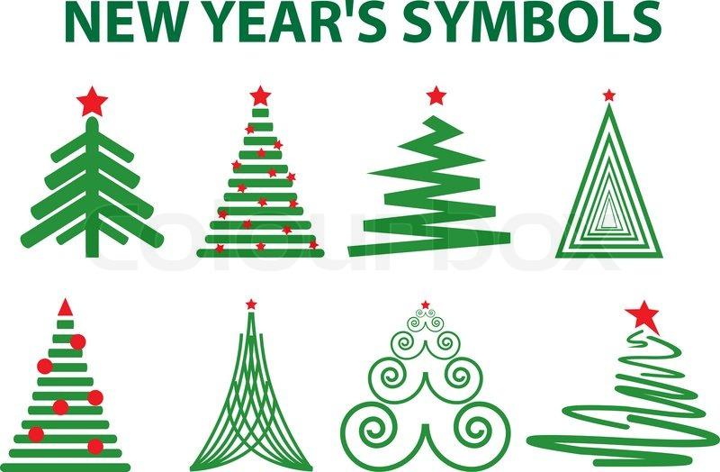 new year s symbols stock vector colourbox