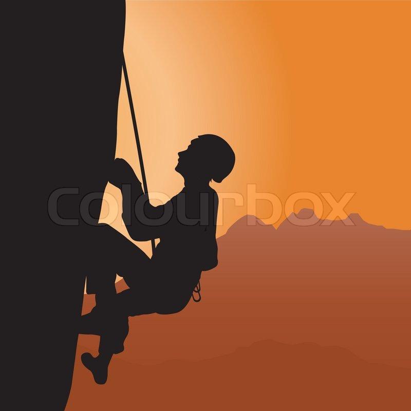 rock climbing stock vector colourbox