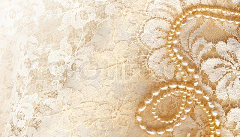 Wedding Background With Cream Silky Decoration Accessories
