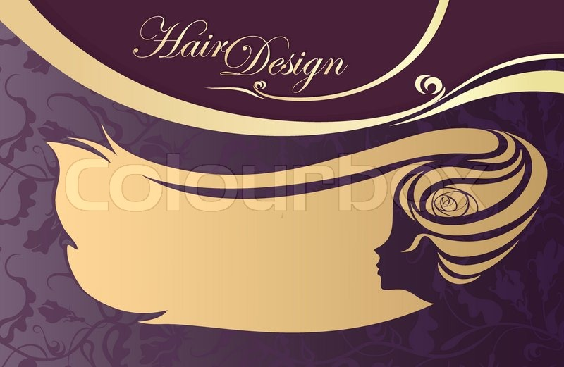 Hairdressing salon business card. woman's profile   Stock Vector ...